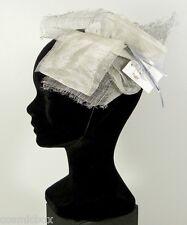 Chapeau de cérémonies pour femmes pince RUE du BAG made in France gris argent