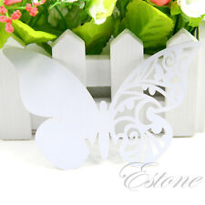 50/100 pcs Table Mark Wine Glass Cards Butterfly Name Place Party Wedding Favor