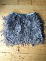 Topshop Ostritch Feather Skirt Size 8 Grey