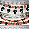 Funny New Halloween Props Garland Pumpkin Spider Hanging Ghost Paper Party Decor