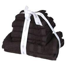 Asciugamani neri in cotone egiziano per il bagno