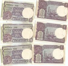 1986 3 UNC VINTAGE INDIA 1 RUPEE BANK NOTES LOT COLLECTABLE OLD MONEY WORLD
