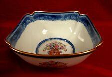 Large Mottahedeh MANDARIN BOUQUET Centerpiece  Square Bowl - MINT