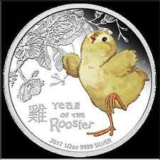 2017 BABY ROOSTER 1/2oz SILVER PROOF COIN - in stock