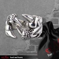 Echt etNox Big Claw Ring Edelstahl Gothic Schmuck - NEU