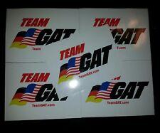 GAT German American Technologies TEAM GAT 4in X 3in Sticker Decal (5 Stickers)
