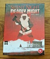 Silent Night Deadly Night Parts 1 & 2 - Blu-Ray - Limited Edition Box Set - New