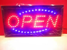 """Large 19 x 10"""" Bright Led Animated Open Store Shop Food Sign Display Light"""
