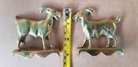Brass Pair of Rams. Ornaments. 8cm