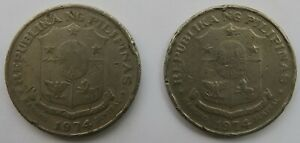 Philippines • 1 Piso • 1974 • KM 203 • 2 circulated coins