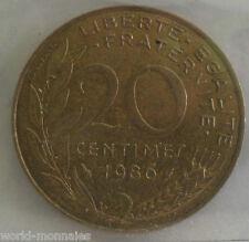 20 centimes marianne 1986 : TTB : pièce de monnaie française