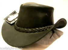 Cowboy Hut Indiana Jones Australien Trapper Leder Country Westernhut braun
