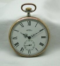 Vintage Fantastic Condition Silver And Rose Rolled Gold  Pocket Watch