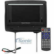 "Power Acoustik HDVD-94T Single 9"" Touchscreen Headrest Monitor w/ DVD Player"