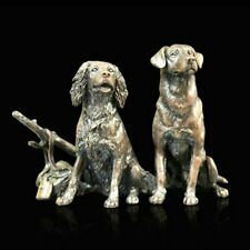 More details for solid bronze dogs spaniel/labrador waiting/shooting (1072) by keith sherwin