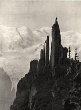 HAUTE-SAVOIE. Passage d'une cheminée 1903 old antique vintage print picture