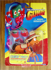 Incredible Adventures of Gumby Cowboy Pokey superflex action figure vintage 1996