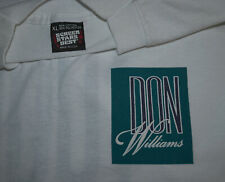 *1989 Don Williams* vintage rare concert tour band tee t-shirt (Xl) 80's Country