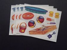 Creative Memories  Lot of Four Block Stickers -  Sand Box - Swimming Pool +++