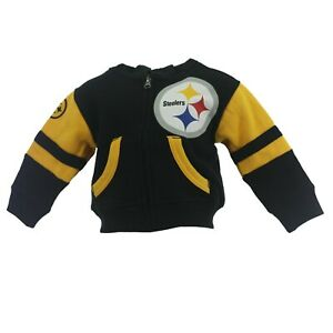 Pittsburgh Steelers Official NFL Infant Toddler Size Full Zip Sweatshirt New
