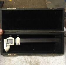"L.S. Starrett 122 Vernier Caliper 6"" in Wood Box Machinist Tool Maker Gunsmith"