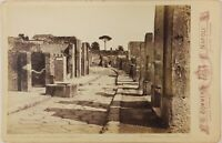 Pompei Italia Foto Sommer PL17c2n12 Cartolina Armadio Vintage Albumina