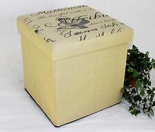 Tabouret Pouf relevable 2148 Boîte de conservation 40 cm cube pour s'asseoir