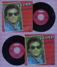 LP 45 7'' F.R. DAVID I need you Porcelain eyes 1983 italy CARRERE no cd mc dvd*