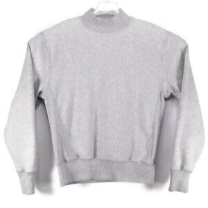 Champion Reverse Weave Mock Neck Grey Pullover Sweatshirt Men's Size M