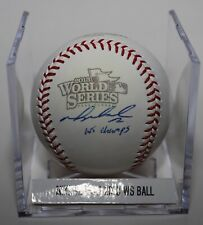 Mike Napoli  Signed Autographed 2013 World Series ROMLB Baseball Red Sox Rangers