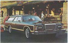"""1977 Ford LTD COUNTRY SQUIRE """"Woodie Wagon"""" NOS Dealer Promo Postcard UNUSED VG+"""
