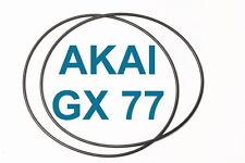 SET CINGHIE AKAI GX77 REGISTRATORE A BOBINE BOBINA NUOVE FRESCHE GX 77 BELTS