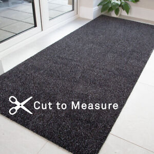 Charcoal Grey Washable Runner Non Slip Long Dirt Catcher Hall Runner Sold By FT