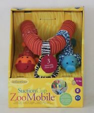 Infantino Suction Cup Zoo Mobile Car Travel Toy NEW