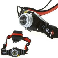 6000 LM Q5 LED Ultra Bright Zoomable Flashlight Headlamp Headlight AAA AE