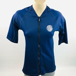 Ripcurl Girls Rashguard Full Zip Rashie Vest 12 AU Logo Belle Zip Through Top