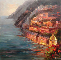 LMOP161 hand-painted Mediterranean landscape decor art OIL PAINTING on CANVAS