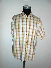 180 11 SIGNUM Hombre Camisa Informal T.L Manga corta WEISS amarillo marrón beis