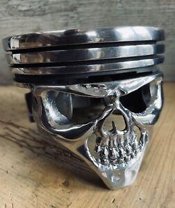 chevrolet Chevy Piston Face Skull Truck Muscle Car Steampunk Petrol Head