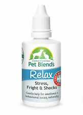 NATURAL PET REMEDY CALM FEAR ANXIETY TRAUMA STRESS Dog Cat Horse Relax Blend NEW