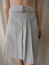 Above Knee Cotton Blend Pleated Skirts for Women