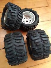1/8 rc wheels 17mm HEX w/ Imex Swamp Dawg tires RC 4WD