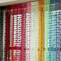 New Heart Style Line String Door Curtain Tassel Window Curtain Divider Scarf F22