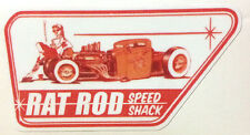 RAT ROD HOT ROD STREET ROD  DECAL STICKER      CHOPPER  BOBBER  SPEED SHOP