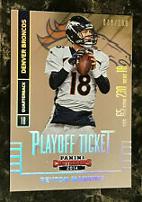 Peyton Manning 2014 Panini Contenders Playoff Ticket #15 TN Vols, Broncos /199