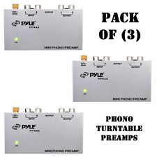Pack of (3) Pyle PP444 Ultra Compact Phono Turntable Preamp / Amplifier Converts