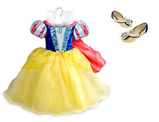 NEW Disney Store Princess Snow White Costume Dress Set w/ Shoes - Girls 3