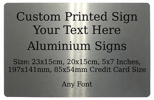 Custom Personalised Your Text Font Metal Aluminium Sign Door House Office Plaque