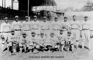 CHICAGO AMERICAN GIANTS 8X10 TEAM PHOTO BASEBALL PICTURE NEGRO LEAGUE EARLY '20