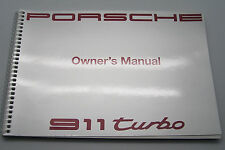 1991 Porsche 911 turbo Carrera Owners Manual Parts Service 911 new original